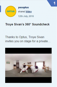 YouTube Optus Troye Sivan