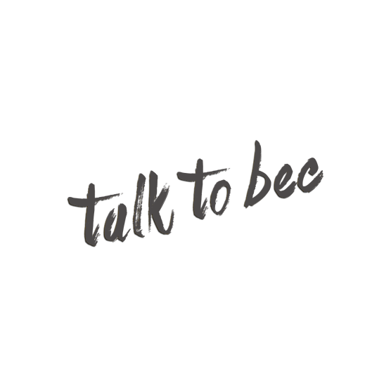 Talk To Bec website